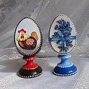 Подарки к праздникам ручной работы. Ярмарка Мастеров - ручная работа Яйца на подставке на Пасху.. Handmade.