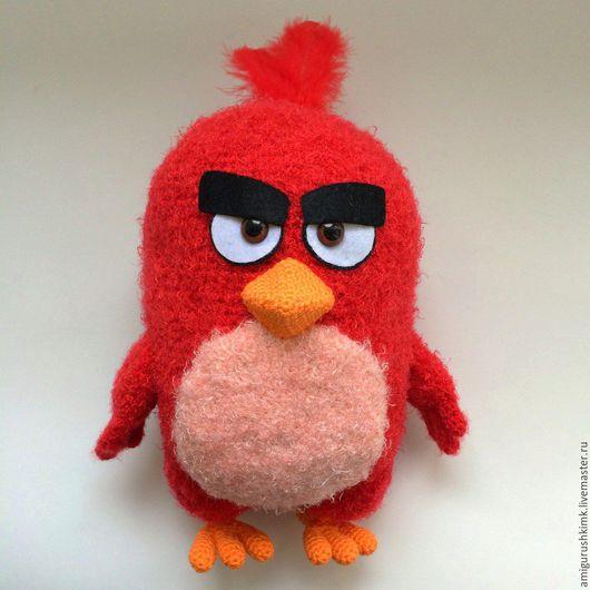 Вязание ручной работы. Ярмарка Мастеров - ручная работа. Купить Схема и описание Красный кардинал Red Angry birds (вязание крючком). Handmade.