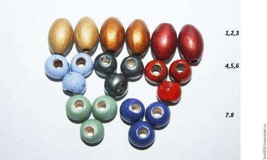 Для украшений ручной работы. Ярмарка Мастеров - ручная работа. Купить Греческая керамика  оливки,  шарики. Handmade. Керамическая бусина