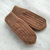 Аксессуары handmade. Livemaster - original item Knitted mittens women`s winter Double mittens. Handmade.