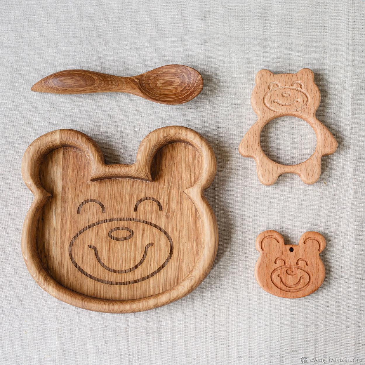 Персональные подарки ручной работы. Ярмарка Мастеров - ручная работа. Купить Детский подарочный набор Мишка. Handmade. Бежевый, подарки