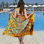 Одежда handmade. Livemaster - original item Pareo silk batik Tree of life. Handmade.
