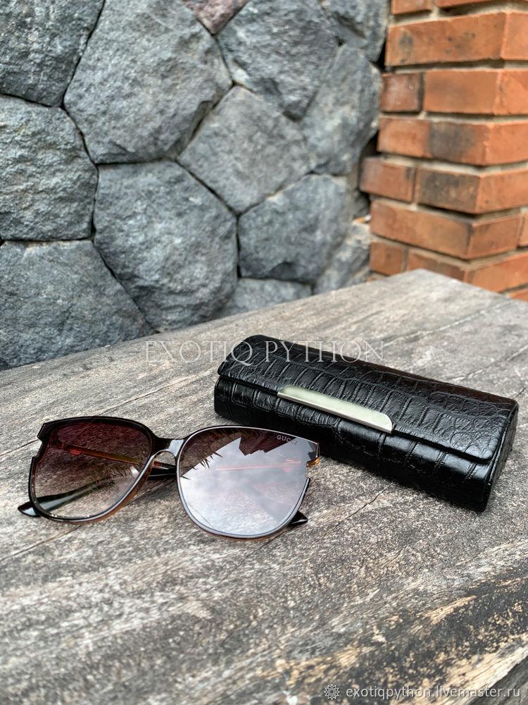 Crocodile leather eyeglass case, Eyeglass case, Moscow,  Фото №1