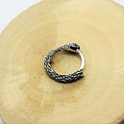 Украшения handmade. Livemaster - original item Ouroboros earring 13 mm. Handmade.