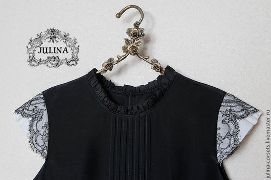 Черная Блузка С Кружевом Купить