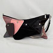 "Сумки и аксессуары handmade. Livemaster - original item Clutch Bag ""Charm"",bag,leather clutch bag black. Handmade."