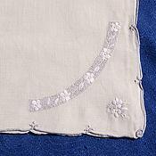 Винтаж handmade. Livemaster - original item Vintage delicate napkin with embroidery. Handmade.