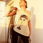 Одежда ручной работы. Ярмарка Мастеров - ручная работа Летний топ с портретом 1. Handmade.
