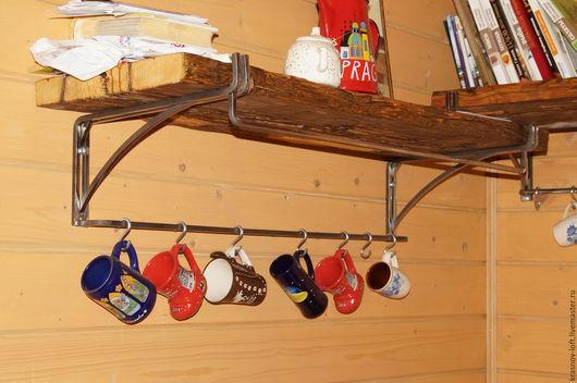Мебель ручной работы. Ярмарка Мастеров - ручная работа. Купить Полка old wood. Handmade. Коричневый, сталь