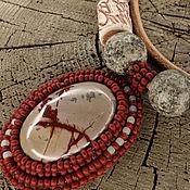 """Украшения ручной работы. Ярмарка Мастеров - ручная работа """"Лесной иероглиф"""". Кулон с яшмой. Handmade."""