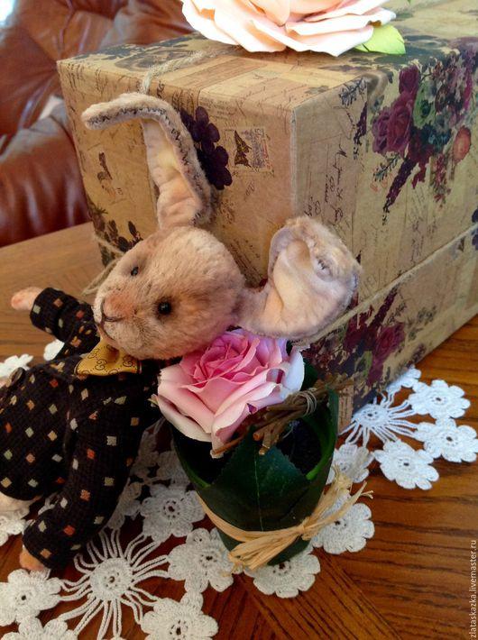 Мишки Тедди ручной работы. Ярмарка Мастеров - ручная работа. Купить Счастливчик)) Кролик Тедди (Друзья Тедди). Handmade. Кремовый