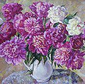 Картины и панно ручной работы. Ярмарка Мастеров - ручная работа Большие розовые пионы. Handmade.