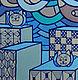 """Фэнтези ручной работы. Ярмарка Мастеров - ручная работа. Купить Картина """"Коты и звезды"""". Handmade. Синий, небо, картина для интерьера"""