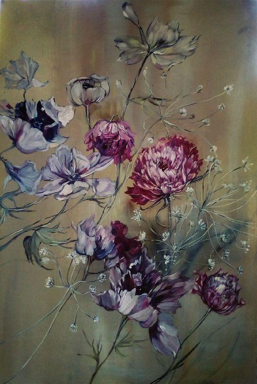Картины цветов ручной работы. Ярмарка Мастеров - ручная работа. Купить Цветы. Handmade. Цветы, Живопись, живопись маслом