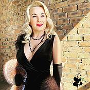 Аксессуары handmade. Livemaster - original item Luxurious boa scarf made of silver Fox fur