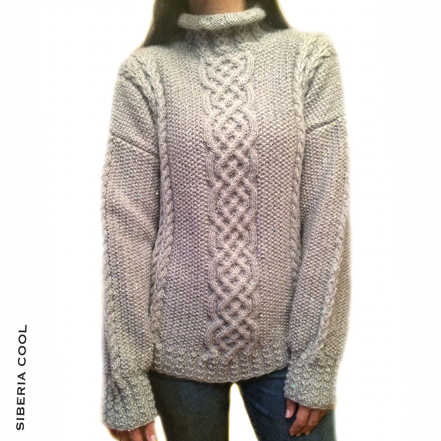 Sweater Womens Sparkling Snow Sequins Wool Cashmere Shop