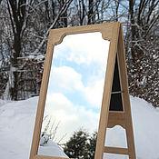 Для дома и интерьера ручной работы. Ярмарка Мастеров - ручная работа Зеркало напольное в виде штендера. Handmade.