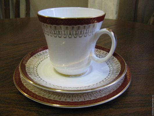 Винтажная посуда. Ярмарка Мастеров - ручная работа. Купить Английское чайное/кофейное трио Royal Grafton.. Handmade. Чайная чашка