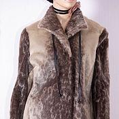 Одежда ручной работы. Ярмарка Мастеров - ручная работа Меховое пальто из Нерпы для стройных. Handmade.