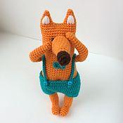 Мягкие игрушки ручной работы. Ярмарка Мастеров - ручная работа Лиcенок вязаный. Вязаный лисенок игрушка. Handmade.