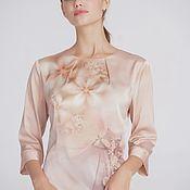 """Блузки ручной работы. Ярмарка Мастеров - ручная работа Блузка """"Персиковый цвет"""". Handmade."""