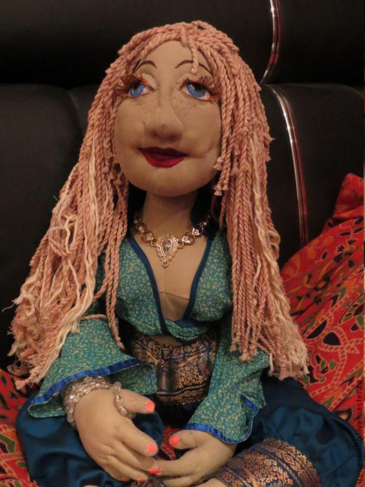 Коллекционные куклы ручной работы. Ярмарка Мастеров - ручная работа. Купить Мечтательница Ундина - текстильная шарнирная кукла. Handmade. бижутерия