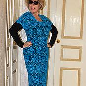 Одежда handmade. Livemaster - original item Knitted turquoise dress crochet sea breeze.. Handmade.