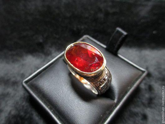 Кольца ручной работы. Ярмарка Мастеров - ручная работа. Купить Уникальное кольцо с гранатом (спессартином) 14,39 карат. Handmade.
