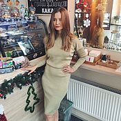 Одежда ручной работы. Ярмарка Мастеров - ручная работа Вязаное платье машинной вязки. Handmade.