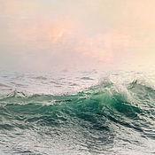 """Картины и панно ручной работы. Ярмарка Мастеров - ручная работа Морская картина для интерьера, Морской пейзаж """"Изумрудный всплеск"""". Handmade."""