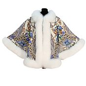 Одежда handmade. Livemaster - original item Jacket poncho with fur. Handmade.