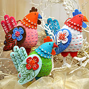Сувениры и подарки handmade. Livemaster - original item Easter decoration Rooster made of felt. Handmade.