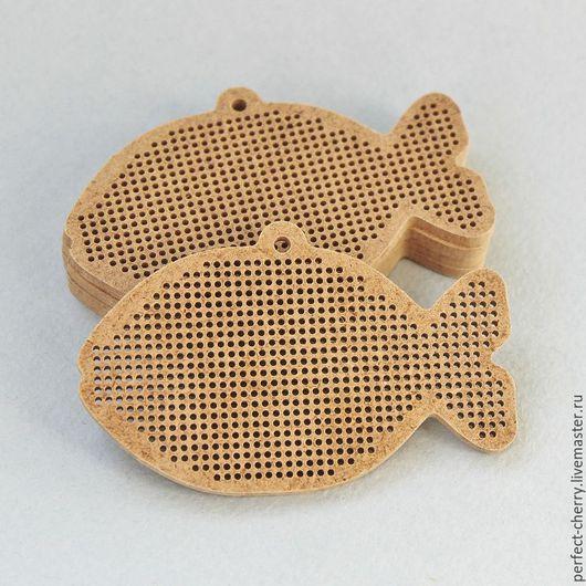 """Вышивка ручной работы. Ярмарка Мастеров - ручная работа. Купить Основа для вышивания """"Рыбка"""". Handmade. Бежевый, вышивка, основа для вышивки"""