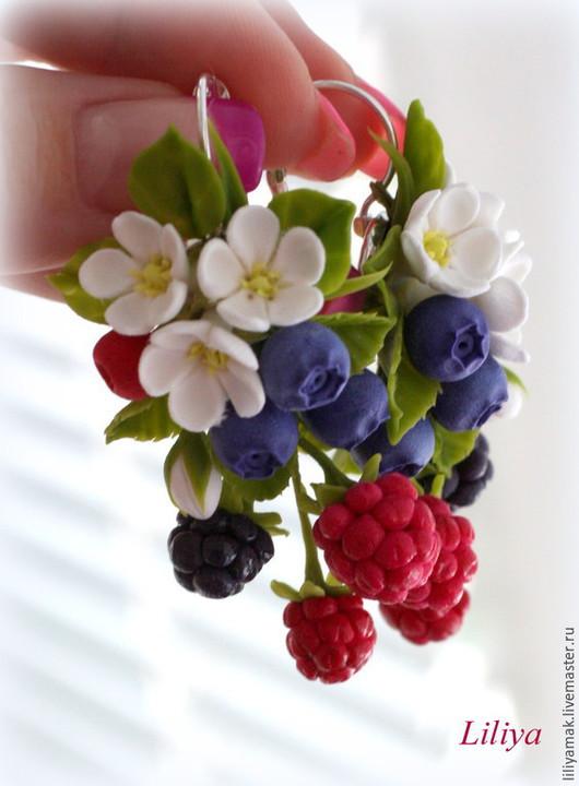 """Серьги ручной работы. Ярмарка Мастеров - ручная работа. Купить Серьги """"Вкус лета"""". Handmade. Разноцветный, украшения с ягодами"""