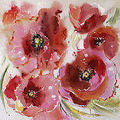 Картины и панно ручной работы. Ярмарка Мастеров - ручная работа Poppies. Handmade.