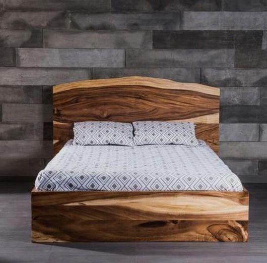 Мебель ручной работы. Ярмарка Мастеров - ручная работа. Купить Кровать из массива ценных пород дерева.. Handmade. Дерево, слэб