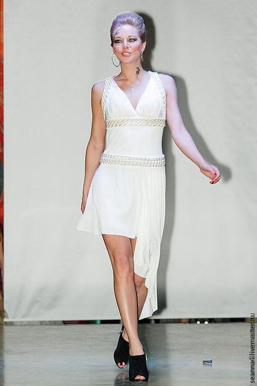"""Платья ручной работы. Ярмарка Мастеров - ручная работа. Купить Платье """"Бело-золотое"""". Handmade. Белый, Платье белое"""