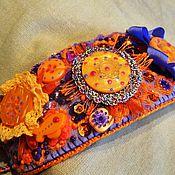 Украшения ручной работы. Ярмарка Мастеров - ручная работа Браслет рыже-фиолетовый. Handmade.