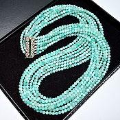 Украшения handmade. Livemaster - original item Necklace Amazonit SPRING Multi-row beads from natural stones. Handmade.