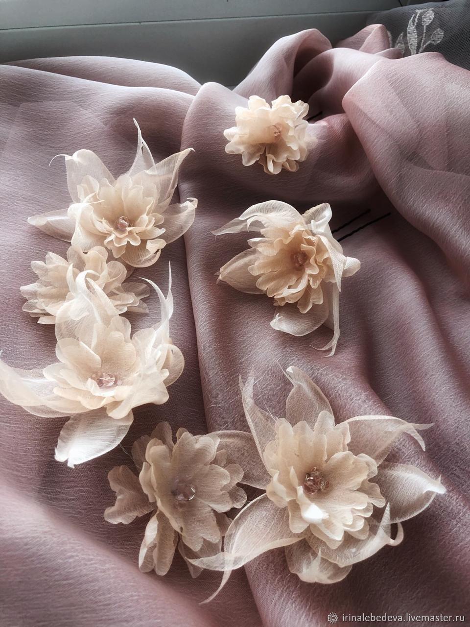 Свадебные украшения ручной работы. Ярмарка Мастеров - ручная работа. Купить Веночек в прическу. Handmade. Украшение, заколка-цветок