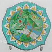 Эксклюзивная ключница Две лягушки Роспись по дереву