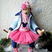 Куклы и игрушки ручной работы. Ярмарка Мастеров - ручная работа Обезьянка Марина.. Handmade.