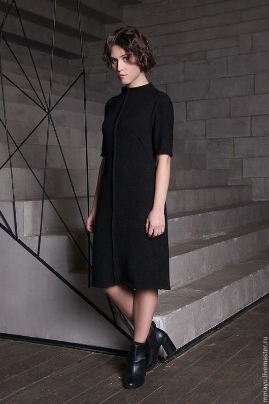 темно-серый цвет серое платье миди мини шерстяное  платье до колен трикотажное платья дизайнерские платья стильное платье мини платье из трикотажа прямое платье