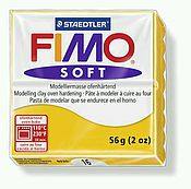 Глина ручной работы. Ярмарка Мастеров - ручная работа Желтый (16) - Fimo Soft. Handmade.