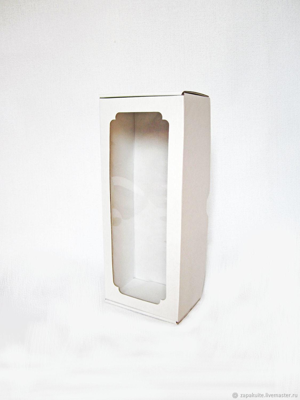 Коробка для куклы 32х13х9 с окном, мгк, белая, подарочная упаковка, Упаковка, Москва, Фото №1
