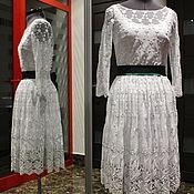 Одежда ручной работы. Ярмарка Мастеров - ручная работа Красивое кружевное платье. Handmade.