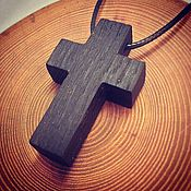 Украшения handmade. Livemaster - original item Cross of bog oak. Handmade.