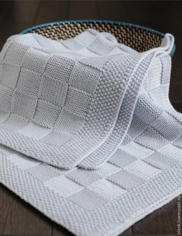 Вязаные пледы спицами для новорожденных своими руками