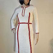 handmade. Livemaster - original item Crochet dress Gianna. White elegant women handmade cotton day dress. Handmade.