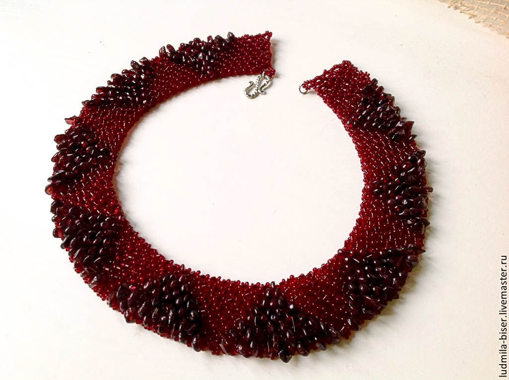 Necklace 'Pomegranate syrup', Necklace, Moscow,  Фото №1
